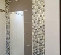 дизайн санузла, мозаика в ванной, мозаика в интерьере