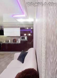 фиолетовая кухня, фуксия в интерьере