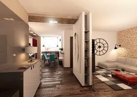 дизайн коридора, дизайн холла, эко стиль в интерьере