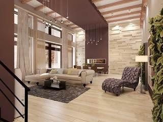 шикарный дизайн гостиной, современный интерьер гостиной, бежево-коричневая гамма