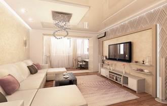 дизайн светлой гостиной, современный стиль интерьера
