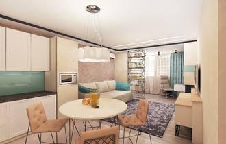 дизайн современного интерьера, ковка в интерьере, кованый стеллаж, яркий интерьер, сочные цвета, бирюзовый интерьер