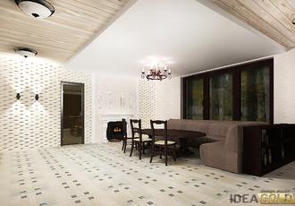 дизайн интерьера комнаты отдыха бани