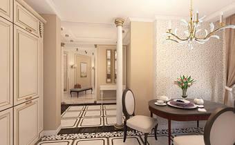 ванильные цвета интерьера,карамельный интерьер, классическая кухня, интерьер классика