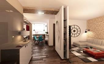 необычный дизайн коридора, дизайн холла свободная планировка, эко стиль в интерьере