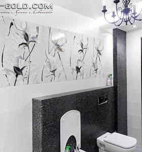 черно белая ванная