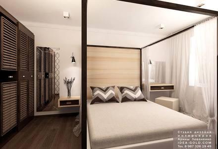 интересный дизайн спальной