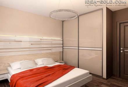 интерьер спальной в эко стиле
