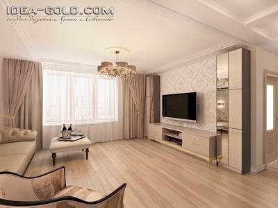 дизайн классического интерьера в саратове, 3d панели в гостиной, гипсовые панели 3D, светлая классика