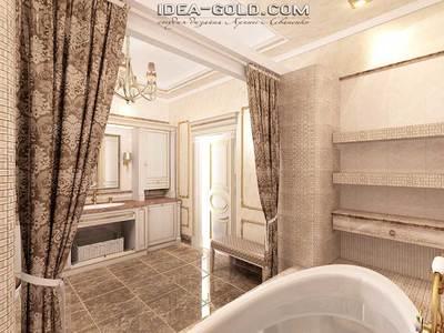 дизайн интерьера ванной в классике, шикарная ванная