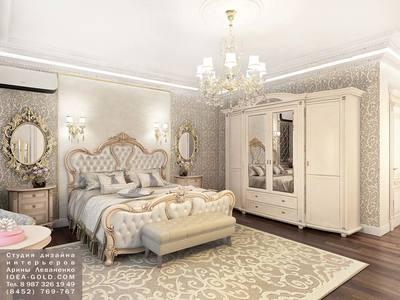 резной интерьер, дизайн роскошного интерьера спальной, интерьер с позолотой, зеркала в интерьере, розовая сальная, золотистая спальная