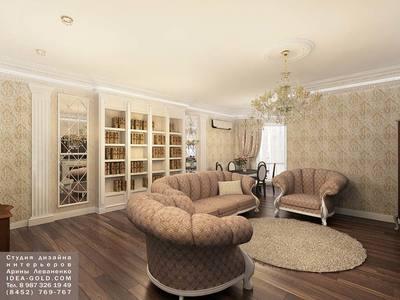 дизайн новостройки саратова, дизайн классического шикарного интерьера, роскошь интерьера, лепнина в интерьере, колонны с позолотой, яркий дизайн классики