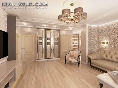 европейский классический стиль в интерьере, зеркала в интерьере, шикарный дизайн гостиной саратов