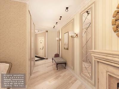 зеркальное панно, дизайн интерьеров, классический стиль, интерьер в классике