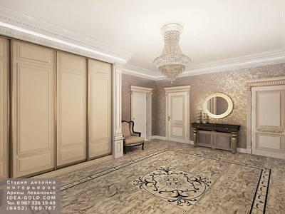 шикарный классический холл, мебель классика, подсветка в интерьере, зеркало в резной раме, золото в интерьере, роскошь интерьера