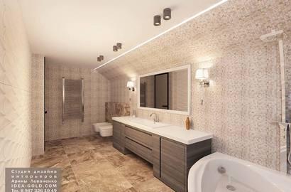 дизайн ванной, мозаика в ванной