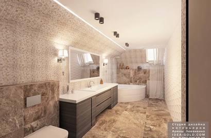 дизайн современной ванной, светлая ванная