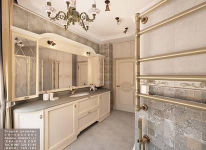 жк дубль, дизайн классической ванной, шикарный дизайн душевой, бронза в ванной