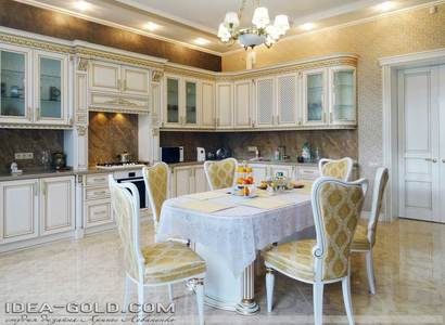 красивая классика интерьера саратов, шикарная кухня в классике