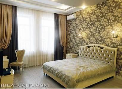 красивый интерьер спальной в саратове, классическая спальная
