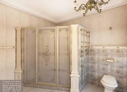 жк дубль дубль, дизайн классической ванной, шикарный дизайн ванной, бронза в ванной