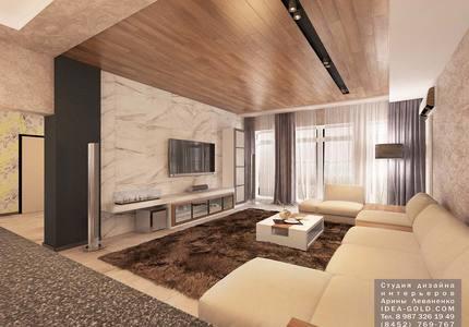 шикарный дизайн гостиной, дизайн дома саратов, дерево в интерьере, современный дизайн интерьера