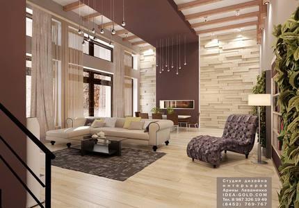шикарный дизайн гостиной, дизайн коттеджа саратова