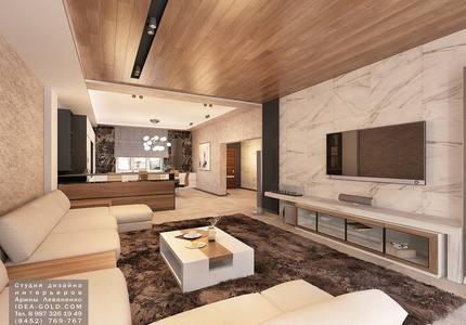 контрастный дизайн, шикарный дизайн интерьера, дизайн в саратове, дерево и мрамор в интерьере, современный интерьер