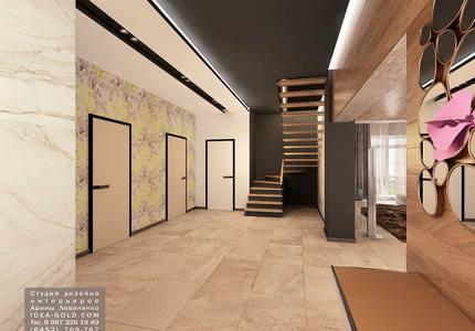 современный холл, дизайн коридора