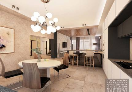 шикарный дизайн кухни, дизайн дома, современный дизайн столовой