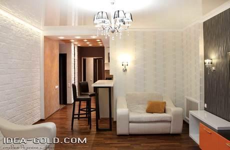 дизайн оранжевой гостиной, дизайн жк дуэт саратов